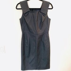 Banana Republic Gray Sasha Sheath Dress EUC